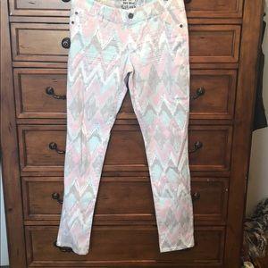 Cute printed skinny jeans